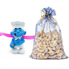 Adorable Smurf 3D Kids Rakhi with Cashew