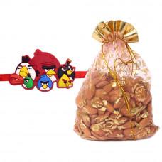 Angry Birds Character Kids Rakhi with Almonds