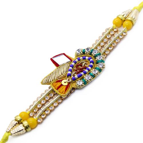 Beautiful Designer Yellow Brother Rakhi