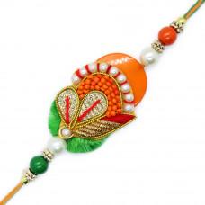 Beautiful Orange Green Rakhi