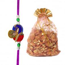 Beautiful Peacock Rakhi with Almonds