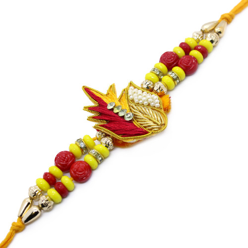 Beautiful Red and Yellow Brother Rakhi