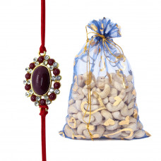 Big Dial Brother Rakhi with Cashew Nuts