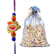 Carry Shaped Rakhi with Cashew Nuts