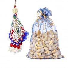 Cashew Pattern Lumba Rakhi with Cashew