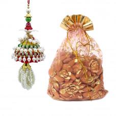 Charming Pearl Lumba Rakhi with Almonds
