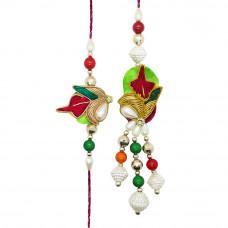 Colourful Resham Bhaiya Bhabhi Rakhi