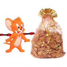 Cute Jerry Animated Kids Rakhi with Almonds