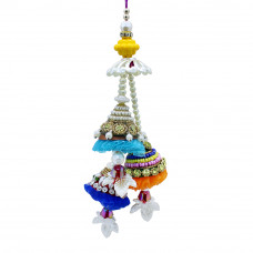 Dazzling Colourful Lumba Rakhi for Bhabhi