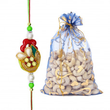 Dazzling Brother Rakhi with Cashew Nuts