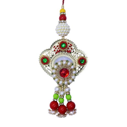 Designer Floral Lumba Rakhi for Bhabhi