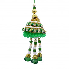 Designer Green Lumba Rakhi for Bhabhi