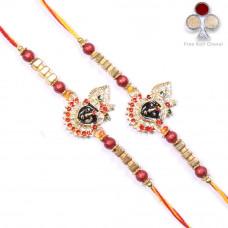 buy Rakhi Set - Two Brother Rakhi Set- Rakhis Online -BR 224 DR