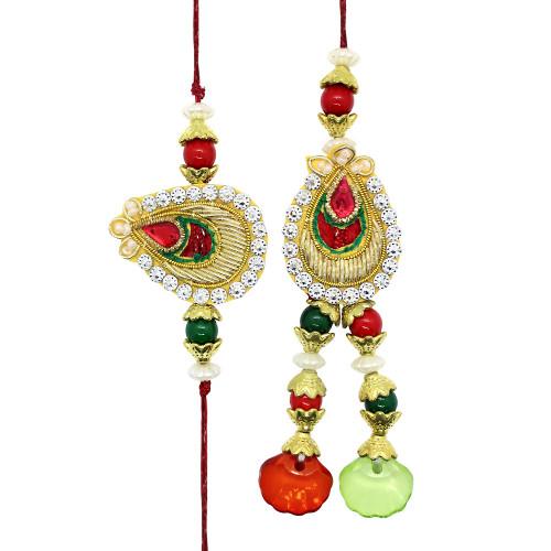 Droplet Style Couple Rakhi