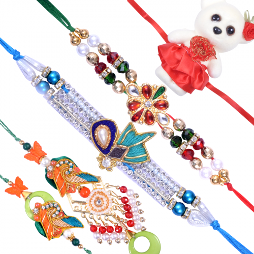 Exquisite Family Rakhi Set C
