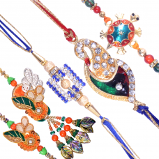 Exquisite Family Rakhi Set D