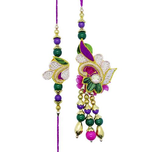 Fancy Peacock Bhaiya Bhabhi Rakhi