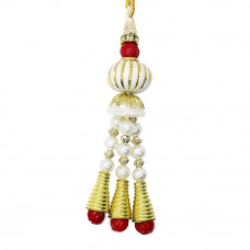 Fancy Pearls Beads Lumba Rakhi