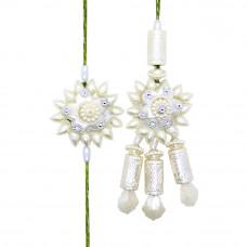 Floral Pearl Bhaiya Bhabhi Rakhi