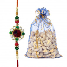 Gems Dial Brother Rakhi with Cashew Nuts