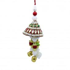 Gemstone Pearl Studded Lumba Rakhi