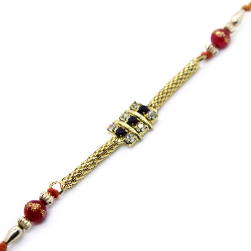 Golden Chain Style Rakhi