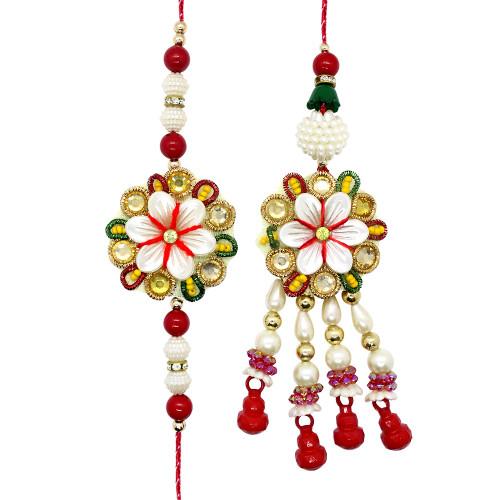 Graceful Floral Bhaiya Bhabhi Rakhi