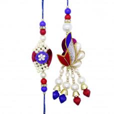Pearl Based Couple Rakhi