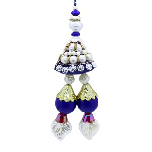 Pearl Studded Lumba Rakhi for Bhabhi