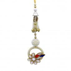 Pretty Pearl Floral Lumba Rakhi for Bhabhi