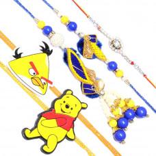 Yellow Rakhi Set