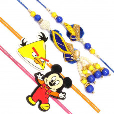 Yellow Blue Rakhi Set