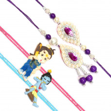 Pearl Studded Rakhi Set