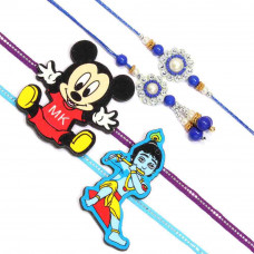 Blue White Rakhi Set