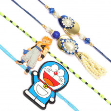 Golden Disc Rakhi Set