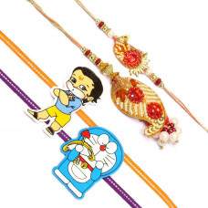 Cashew Shape Rakhi Set