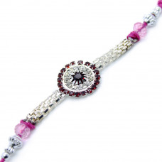Round Floral Brother Rakhi