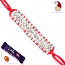 Jewel Studded Bracelet Rakhi