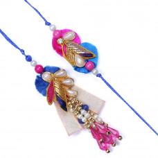 Blue and Pink Couple Rakhi
